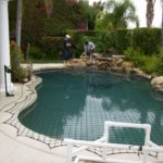 Pool Rocks Safety and Safety Mesh Cover
