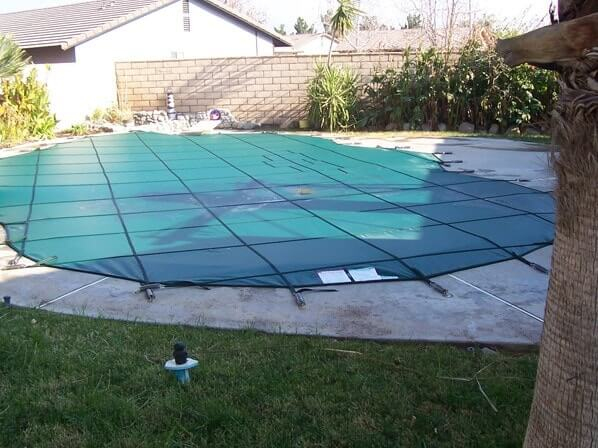 Pool Cover installed and placed on pool